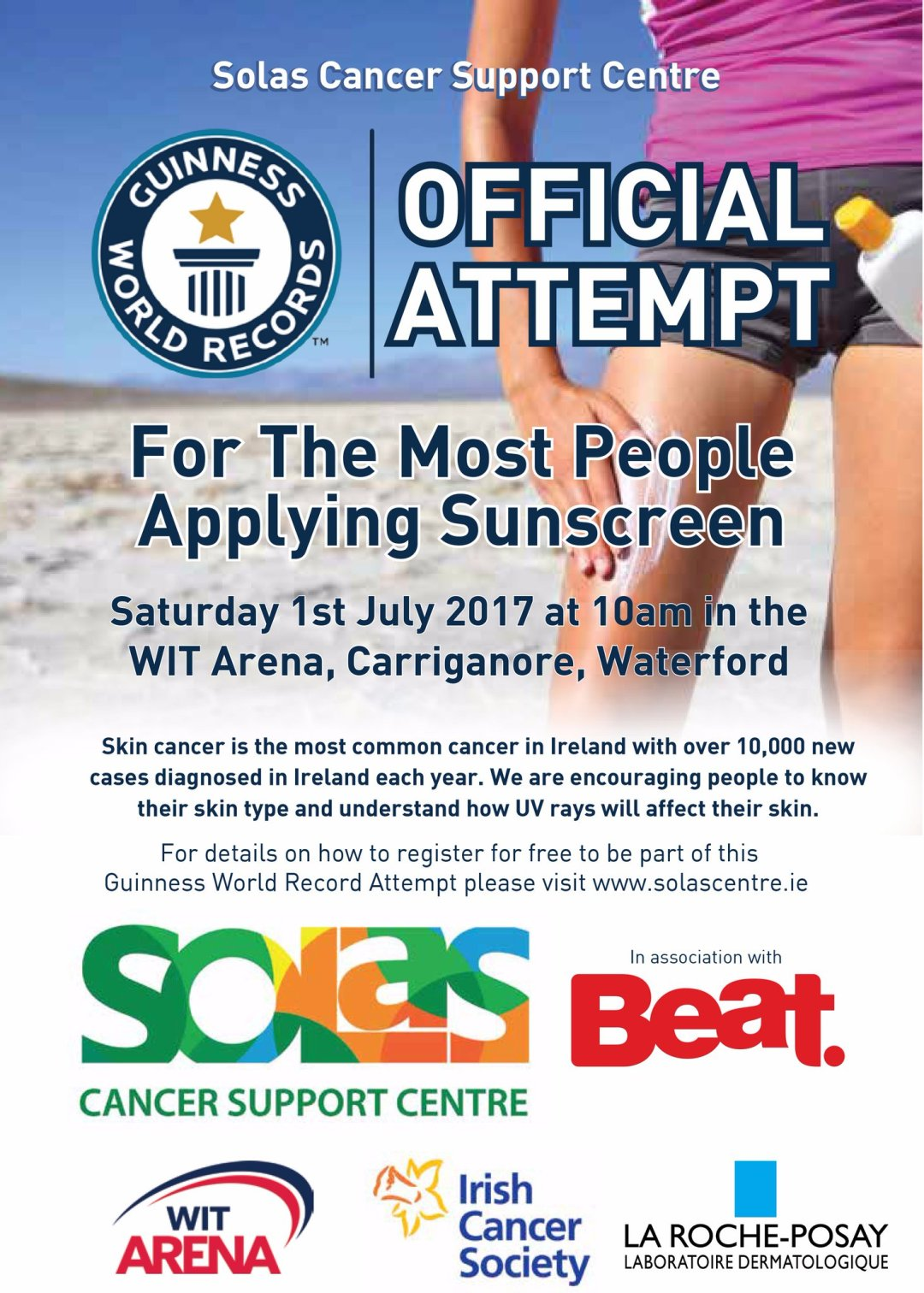 Sunscreen World Record Attempt by the Solar Centre Waterford, Ireland