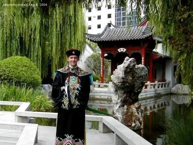 Shane Mao Donald, Darling Harbour, Sydney, Australia The Chinese Gardens, located a short distance from Darling Harbour, allows you to make use of traditional Chinese outfits.
