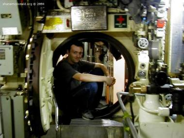 Cramped Submarine Conditions, Sydney, Australia The submarine is small, low and cramped. Not the ideal environment to be rushing around in.
