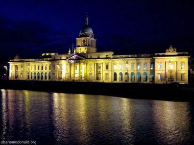 The Custom House, By Night, Dublin, Ireland