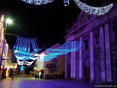 Barronstrand Street at Christmas, Waterford, Ireland