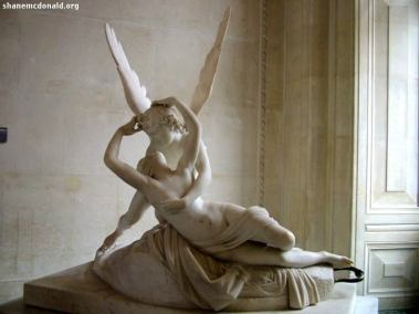 Psyche and Cupid, Paris, France This marble statue os Psyche and Cupid was completed in 1793 by Antonio Canova.
