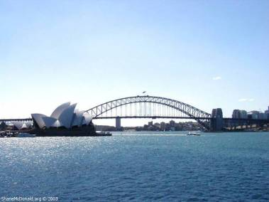 Sydney Opera House and Harbour Bridge, Sydney, Australia From Farm Cove you get a great view of the Opera House and the bridge.
