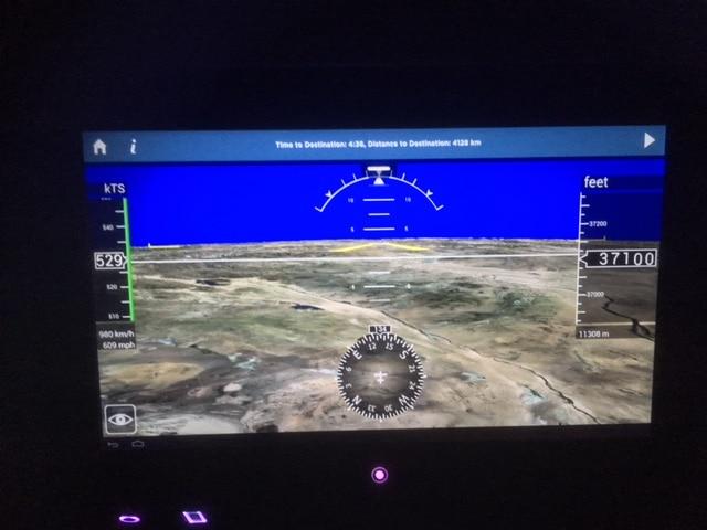 Virgin Atlantic Premium Economy Review - The VERA onboard entertainment system