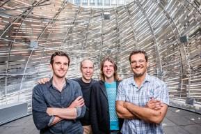 The design team: Jason Klimoski, Dan Goods, me and David Delgado. Photo by Dan Goods
