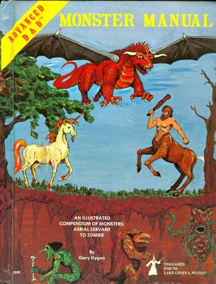 A&D Monster Manual 1st Edition