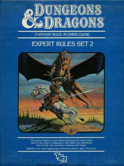 D&D Expert Set 2nd Edition Box