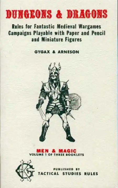 OD&D Volume 1 Men & Magic 3+-4th Printing