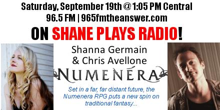 Shanna Germain & Chris Avellone talk Numenera on Shane Plays