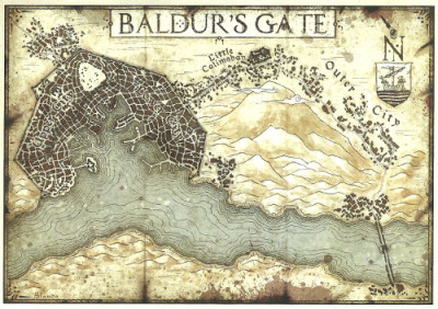 Baldur's Gate map