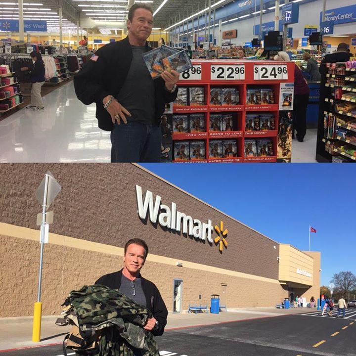 Arnold Schwarzenegger at Northwest Arkansas Walmart