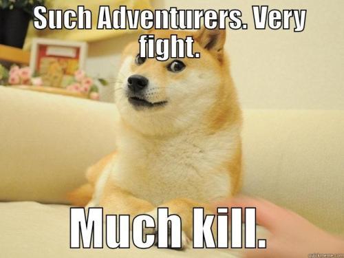 Dog such adventures meme