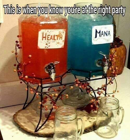 d&d meme health mana party potions