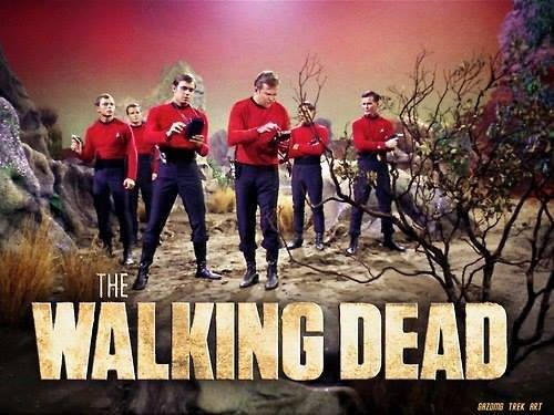 The Walking Dead with Star Trek Redshirts