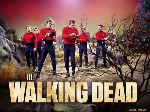 The Walking Dead with Star Trek Redshirts