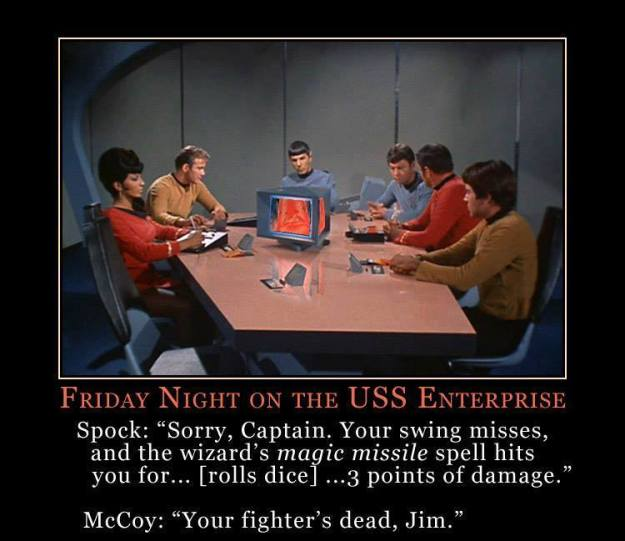 d&d meme star trek friday night