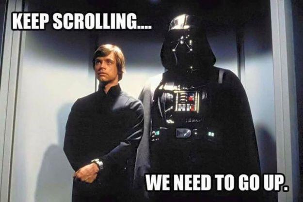 geek meme star wars keep scrolling
