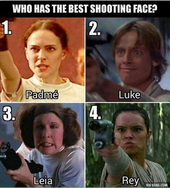 geek meme star wars best shooting face