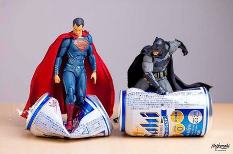 geek meme superman batman crushing cans