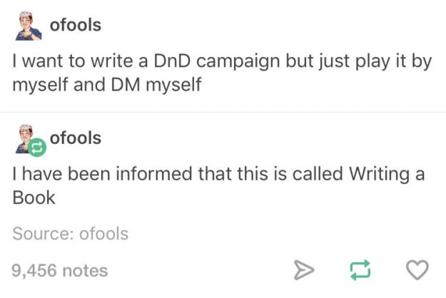 d&d meme writing a book