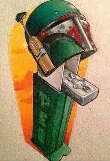 geek meme boba fett pez dispenser