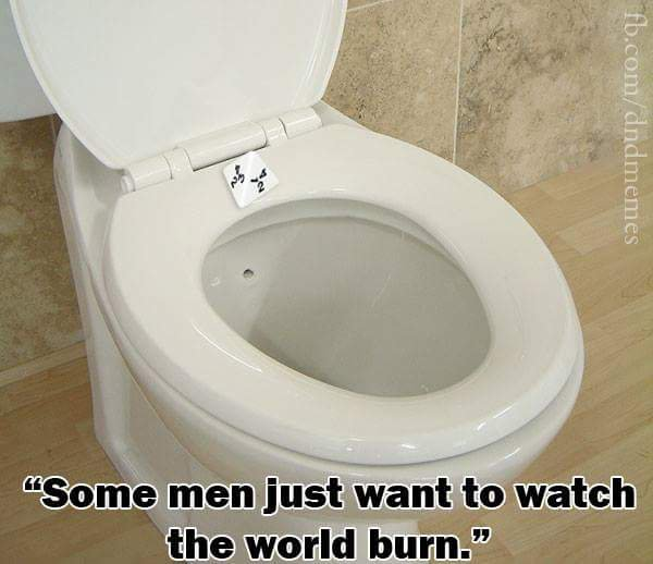 d&d meme 4 sider on toilet