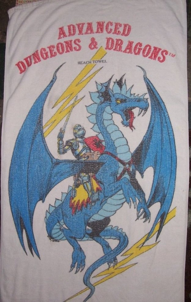 d&d meme ad&d beach towel 1982