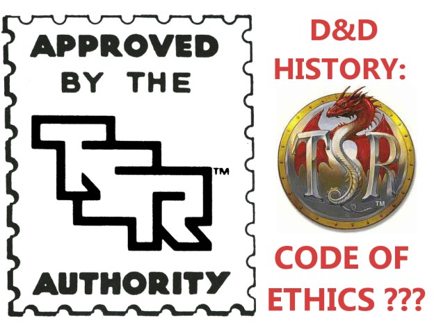 rpg history tsr code of ethics for d&d