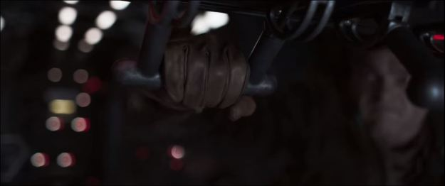 star wars solo trailer hand pulling horizontal lever all the way back