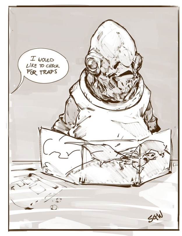 D&D meme ackbar check for traps
