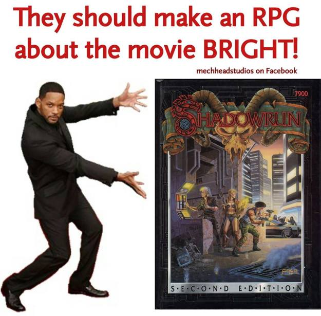 D&D meme they should make a Bright movie RPG