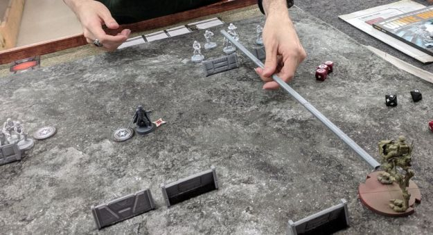 star wars legion range ruler in use