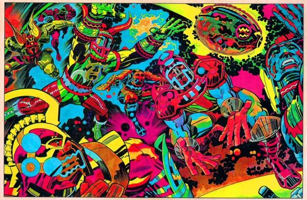 jack kirby comic book artwork