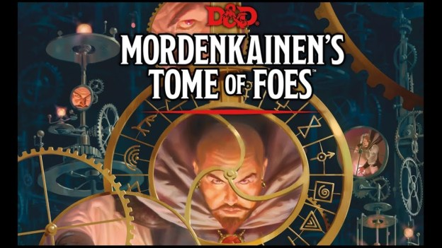 d&d mordenkainens tome of foes partial cover art with text