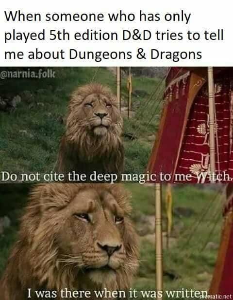 d&d meme aslan is the ultimate grognard