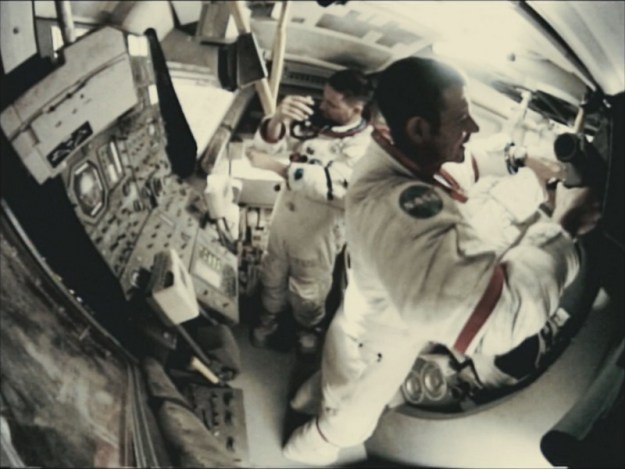 apollo 18 movie two astronauts in LM cramped quarters