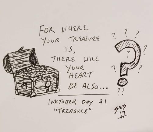inktober 2019 day 21 treasure shane stacks