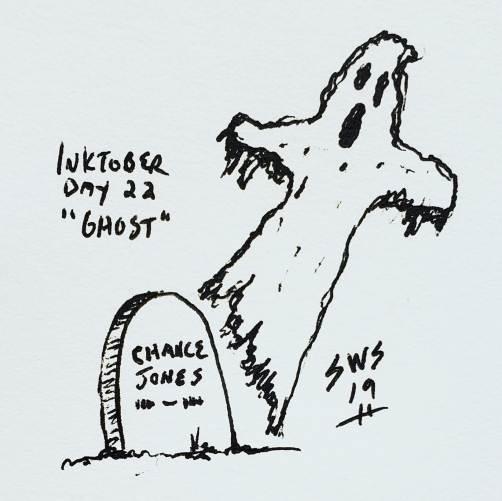 inktober 2019 day 22 ghost shane stacks