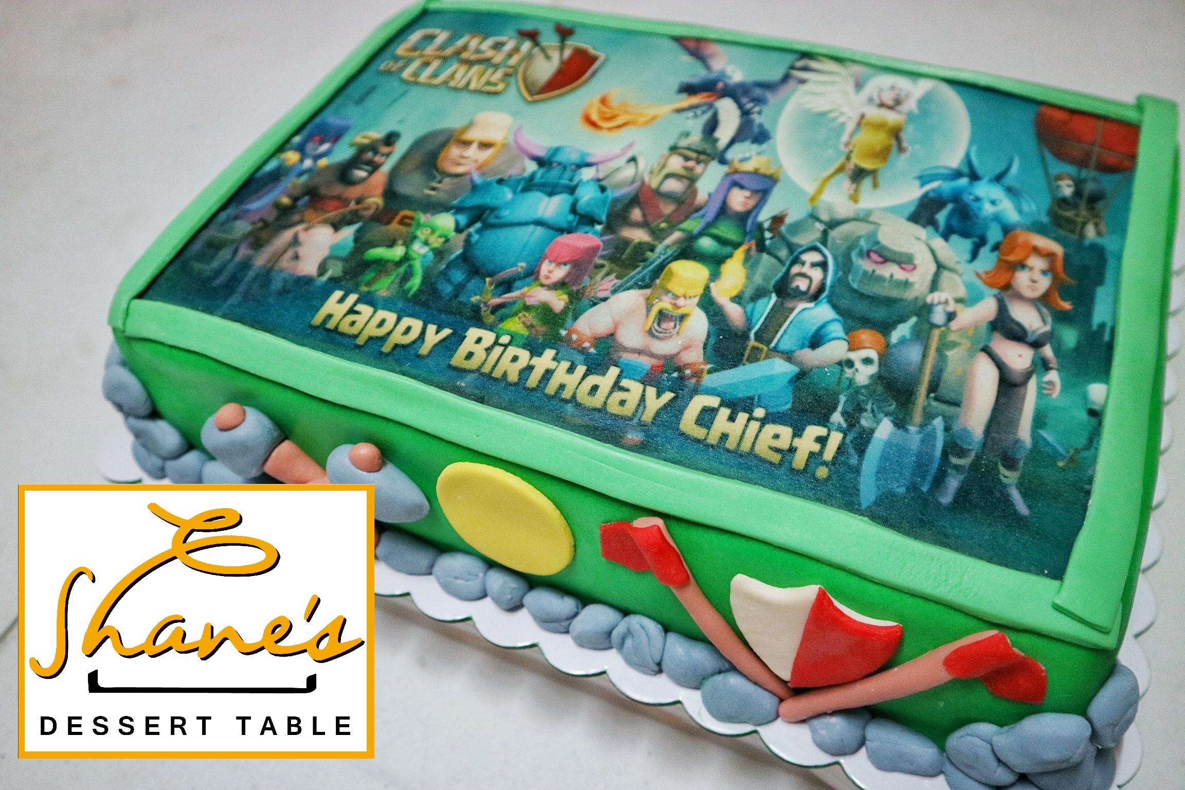 Clash Of Clans Cake Shane S Dessert Table