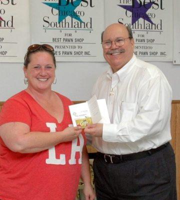 Shane's The Pawn Shop 106th Raffle Winner! Rosemary Phelan