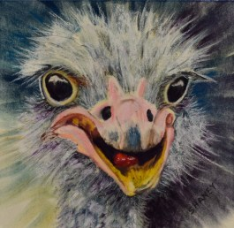 Ostrich Chic Painting