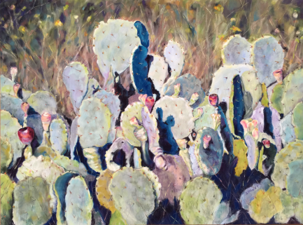 west texas cactus painting