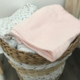 My basket of muslin cloths