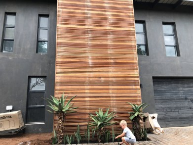 Complete Feature wall outside