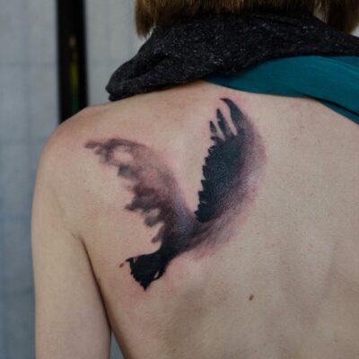 zhuo dan ting tattoo work 卓丹婷纹身作品 鸟纹身 1