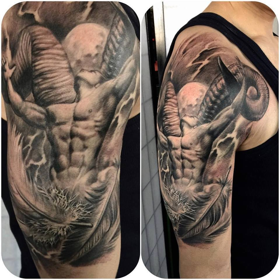 zhuo dan ting tattoo work