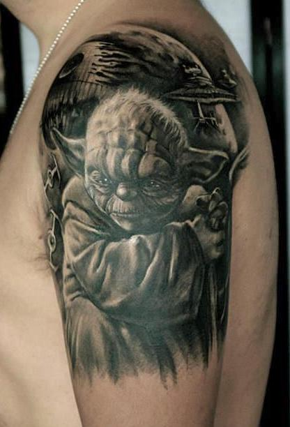 zhuo dan ting tattoo work yoda tattoo