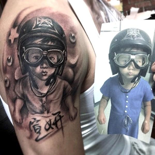 Zhuo-Dan-Ting-Tattoo-Work-kid-Realism-portrait-tattoo卓丹婷写实肖像纹身