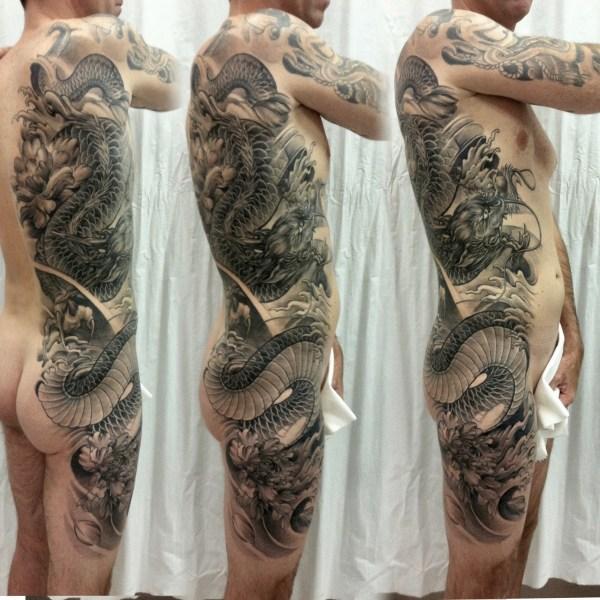 Zhuo-Dan-Ting-Tattoo-work-卓丹婷纹身作品-亚洲龙纹身