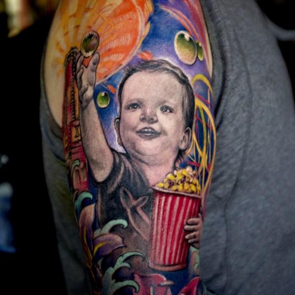 Zhuo-Dan-Ting-Tattoo-work-卓丹婷纹身作品-彩色肖像纹身